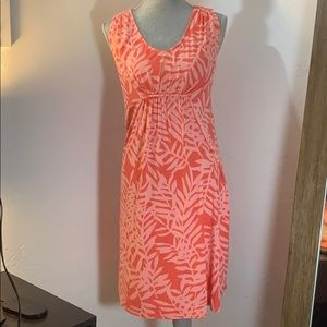 Tommy Bahama dress floral print S Pink and peach